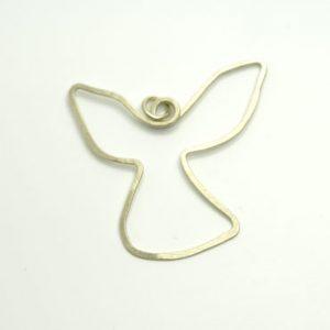 vedhæng, halssmykke med vedhæng, halskæde med vedhæng, slebet overflade, trådsmykke, engel, tro, religion, kristendom, spirituel, vinger, charms