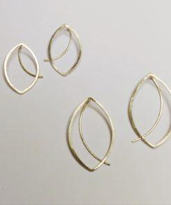 billeblad, billeøreringe, bladformede øreringe, bladøreringe, øreringe der ligner blade, organiske øreringe, minimalistisk, øreringe, guld, sølv, unika, enkelte øreringe, søde øreringe