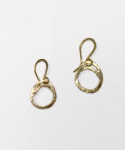 celleøreringe, cirkler, former, runde øreringe, øreringe, organiske øreringe, enkelte, guld, sølv, unika,