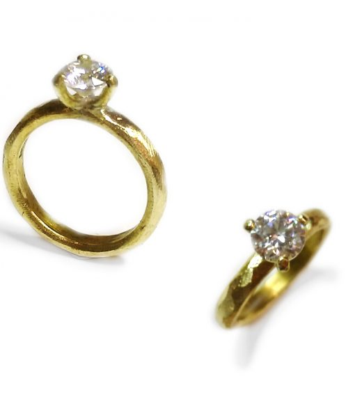 solitaire ring prinsessering