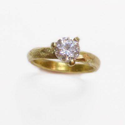 Prinsessering, solitairering, forlovelsesring, brillantring, ring med kronefatning