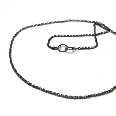 sølv, oxyderet, oxyderet sølv, kæde, ankerkæde, anker, ROH, lås, design, lænker, halskæde, halssmykke,