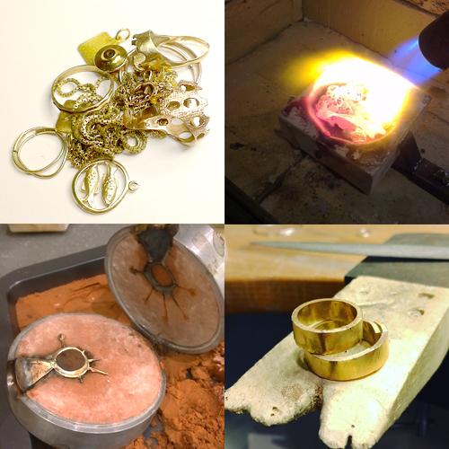 Omsmeltning af guld
