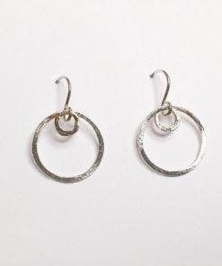 organiske øreringe, naturlige øreringe, små øreringe, guld, sølv, unika, øreringe, krusedulle øreringe, søde øreringe,