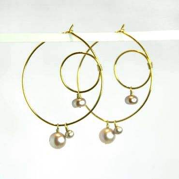 romantisk ørering med perler