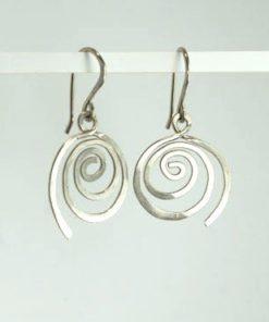 spiral, snoede øreringe, krusedulle øreringe, organiske øreringe, runde, små øreringe, slangeøreringe, unika, sølv, guld, øreringe, krog