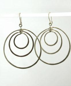 organiske øreringe, naturlige øreringe, store øreringe, guld, sølv, unika, øreringe, krusedulle, flere lag,