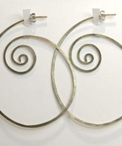 spiral, snoede øreringe, krusedulle øreringe, organiske øreringe, runde, store øreringe, slangeøreringe, unika, sølv, guld, øreringe, stik, stikker