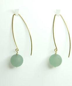 øreringe med perler, enkle øreringe, lange øreringe, slanke øreringe, guld, sølv, unika, øreringe med sten, lang ørering