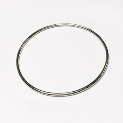 Cirkel armring, blank overflade, klassisk armring, poleret overflade, rund