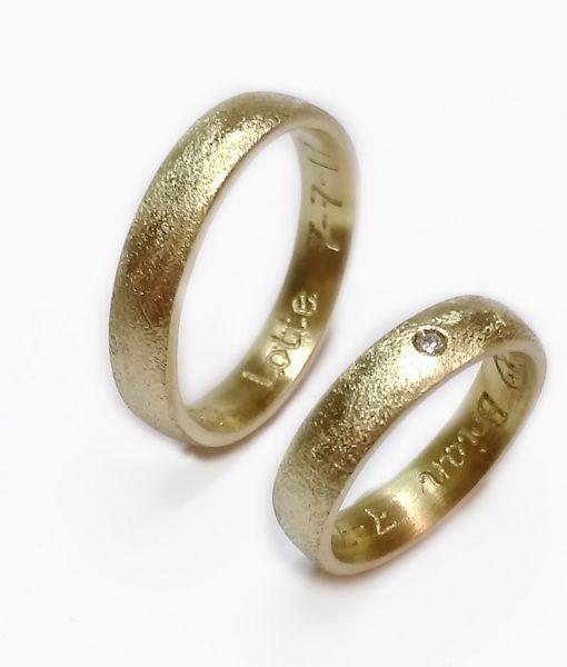sandstøbt ring vielsesring