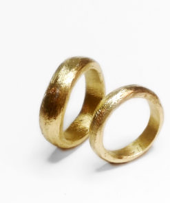 Organisk rustik ring - vielsesring