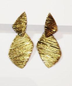 hængeøreringe, stik, stikker, lange, slanke, trekantede, flere dele, store øreringe, pladeøreringe, unika, sølv, guld, øreringe,